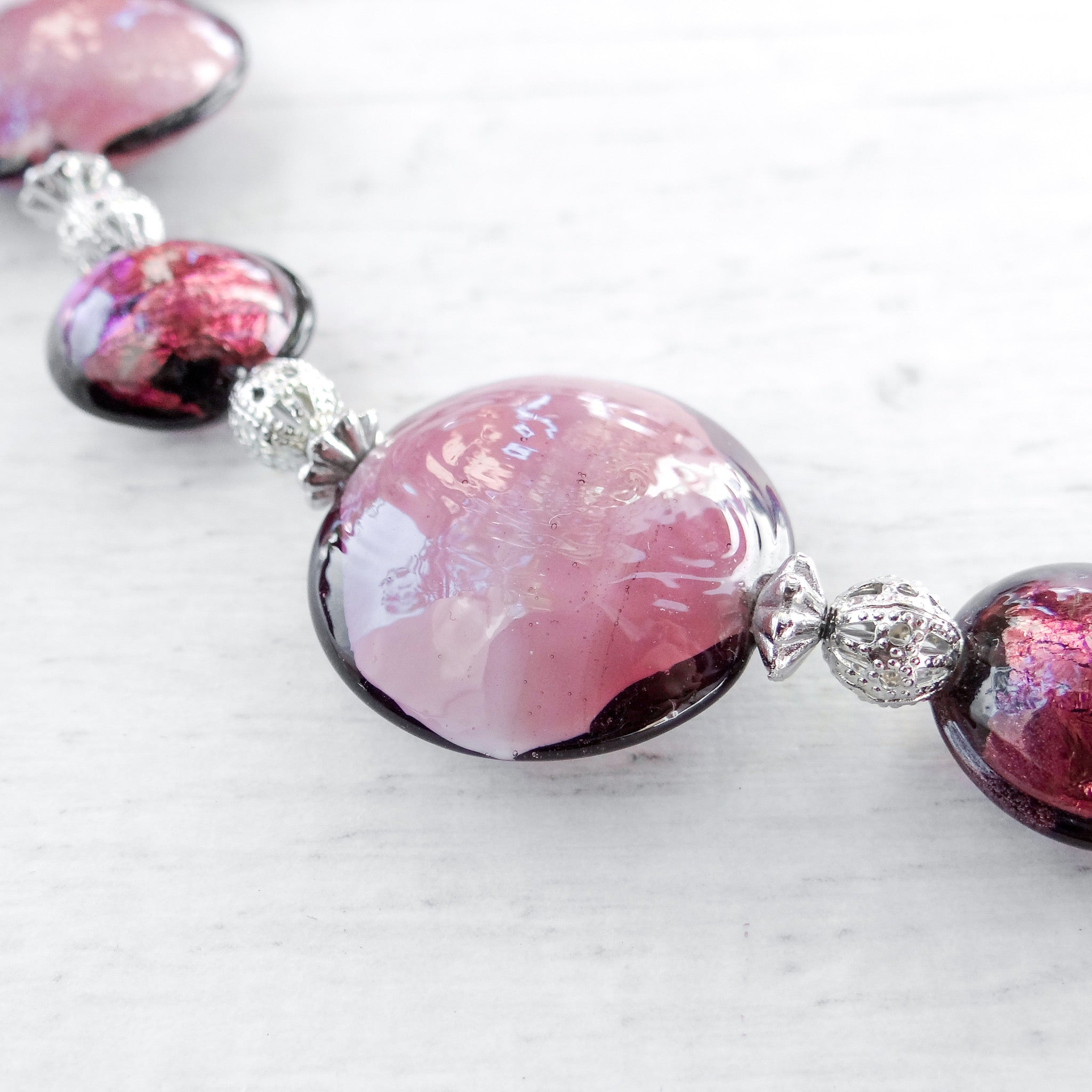 Schisse - Purple Murano Glass Necklace