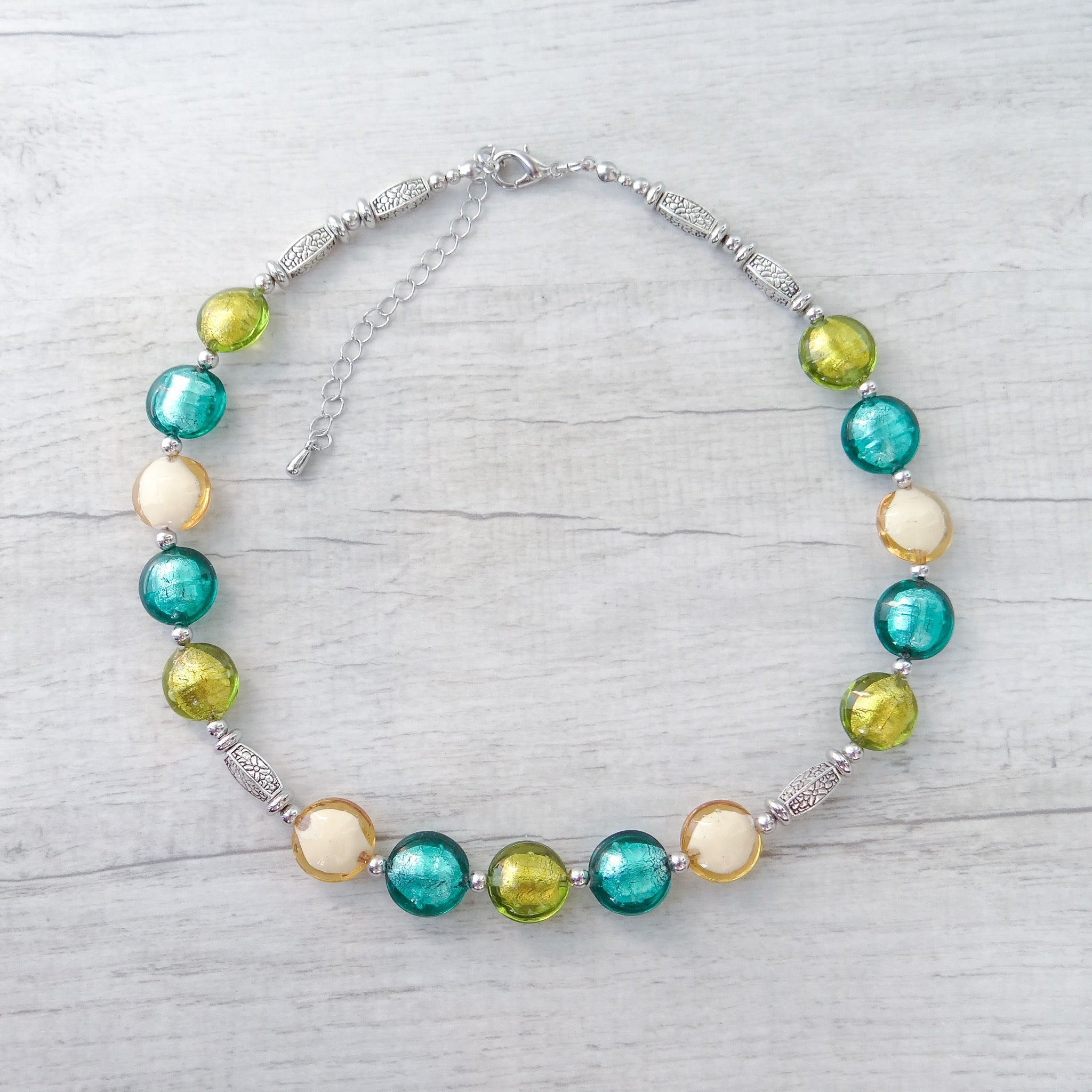Ciàcola - Green Murano Glass Necklace