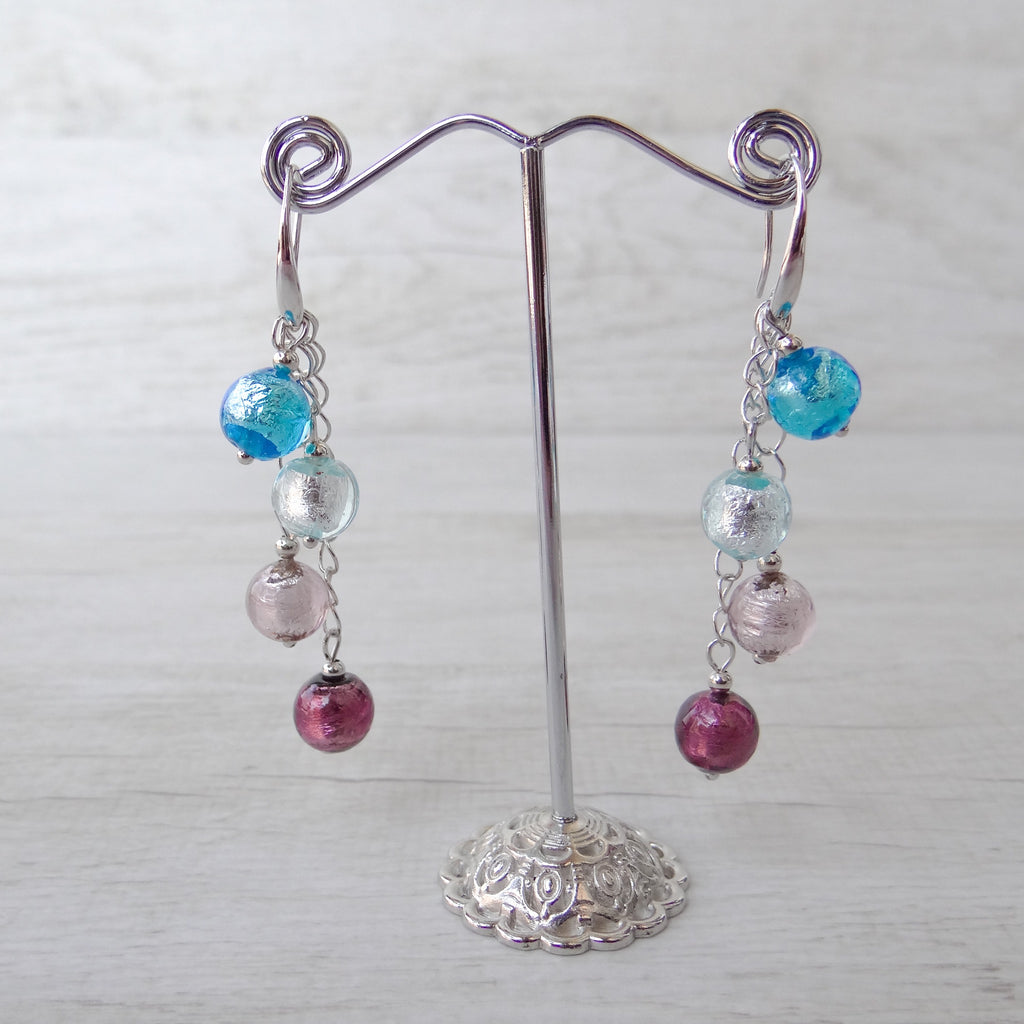 Arlechin - Blue Murano Glass Earrings