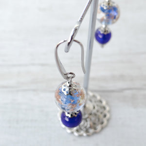 Baète - Periwinkle Murano Glass Earrings