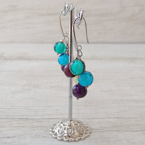 Bòvolo - Dark Murano Glass Earrings