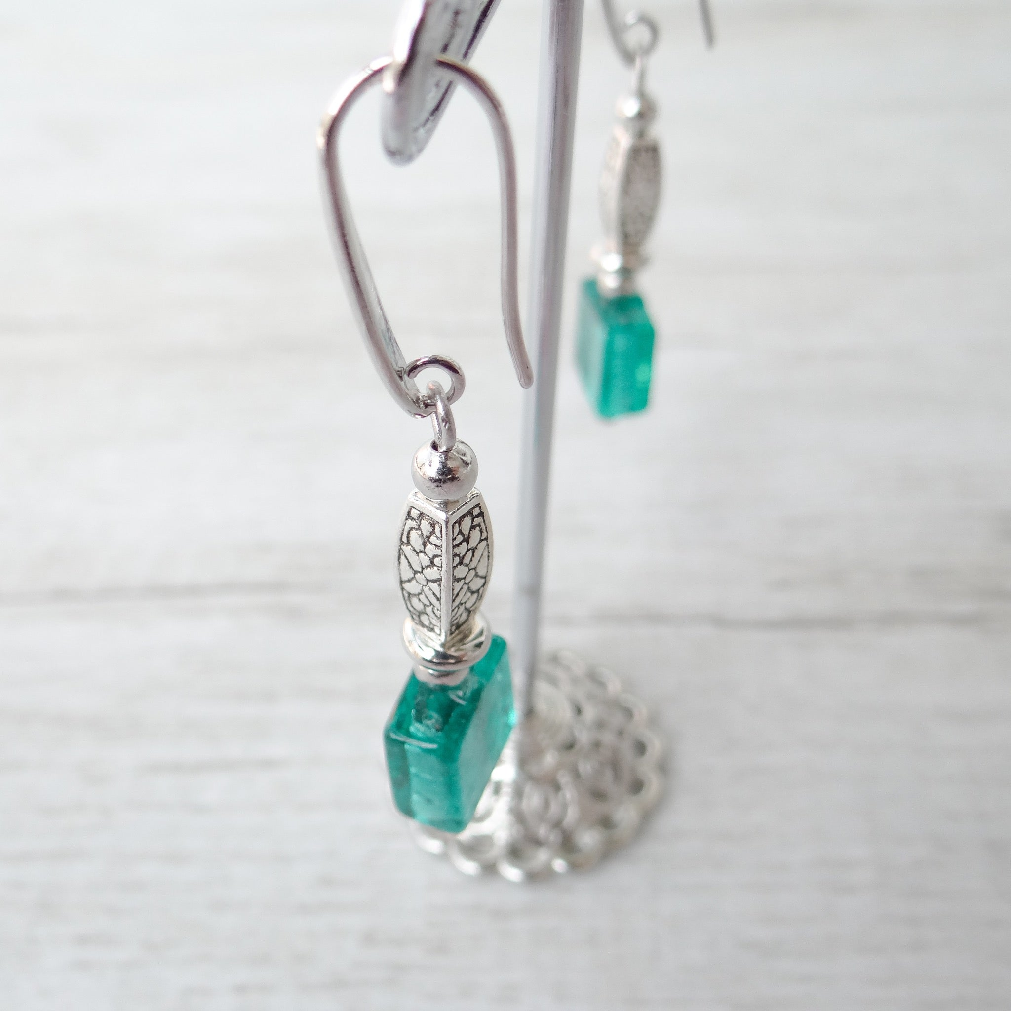 Cantóni - Blue Lagoon Murano Glass Earrings