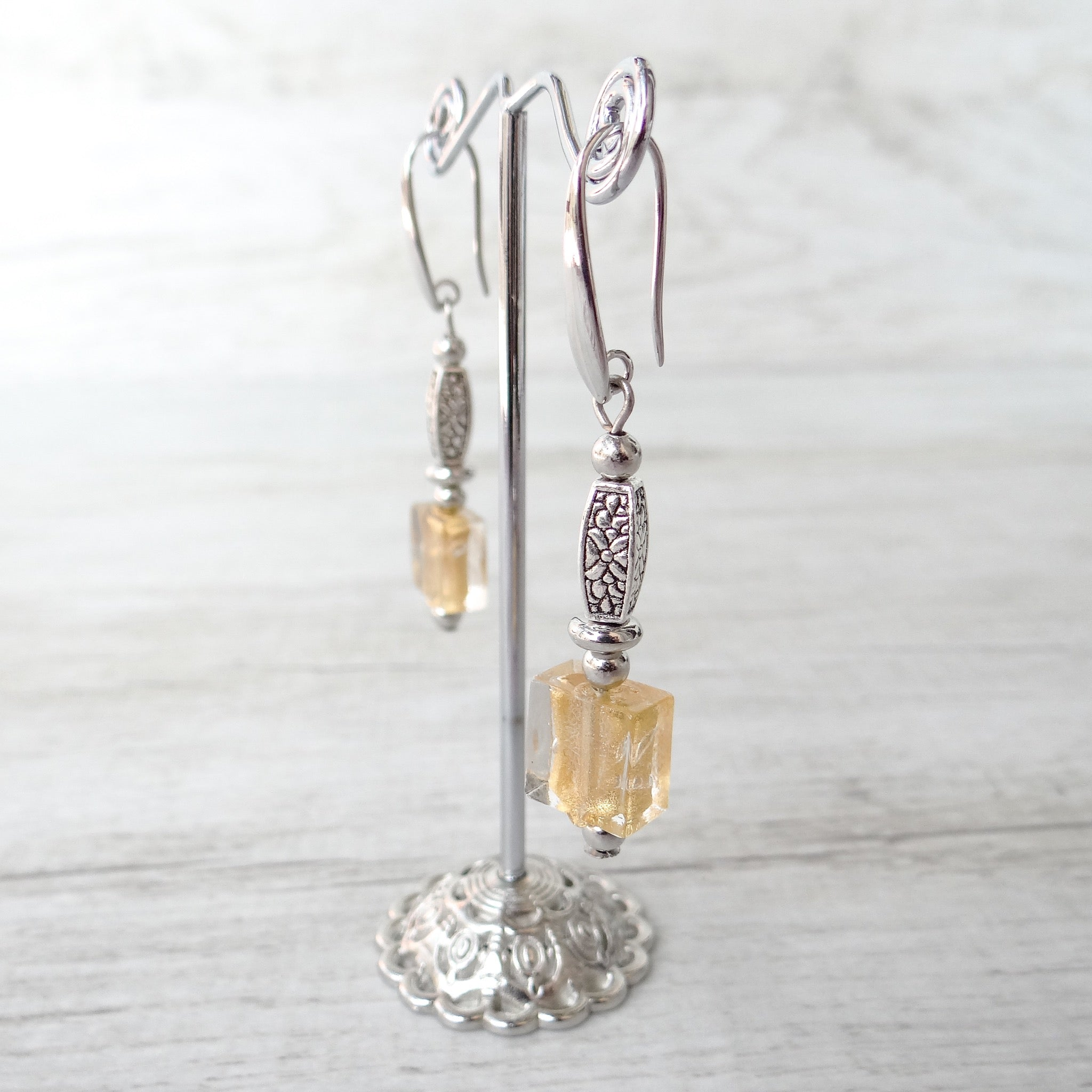 Cantóni - Gold Murano Glass Earrings
