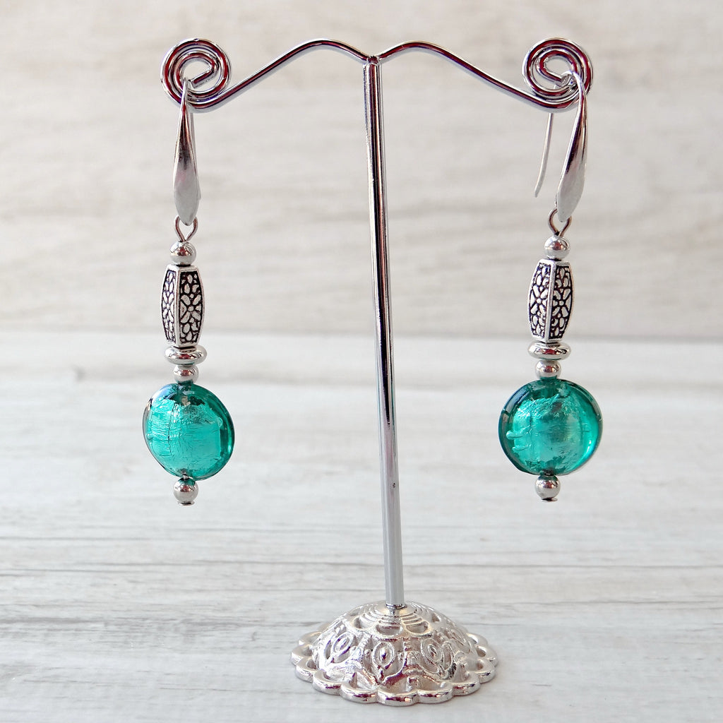 Làgreme - Blue Lagoon Murano Glass Earrings