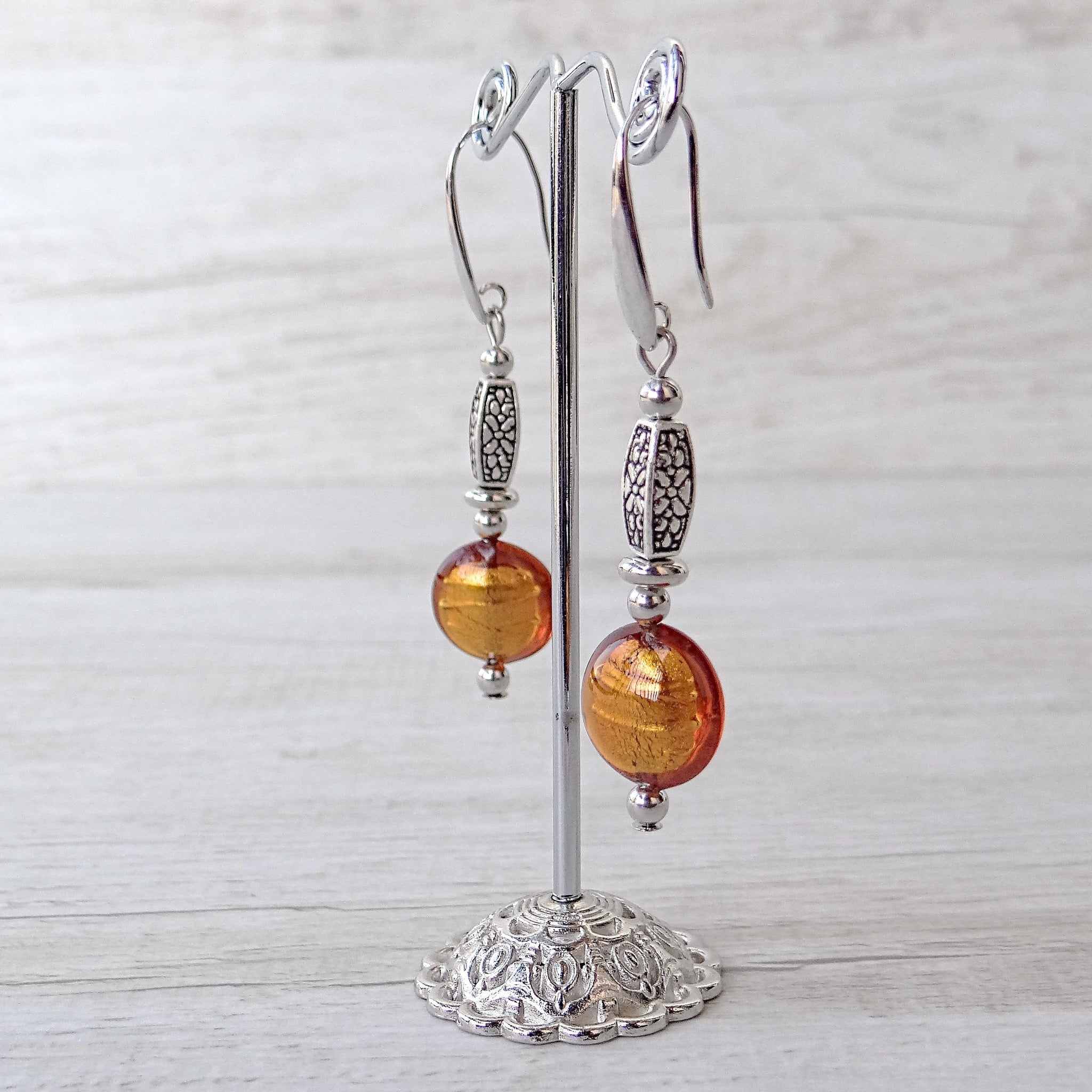 Làgreme - Topaz Murano Glass Earrings