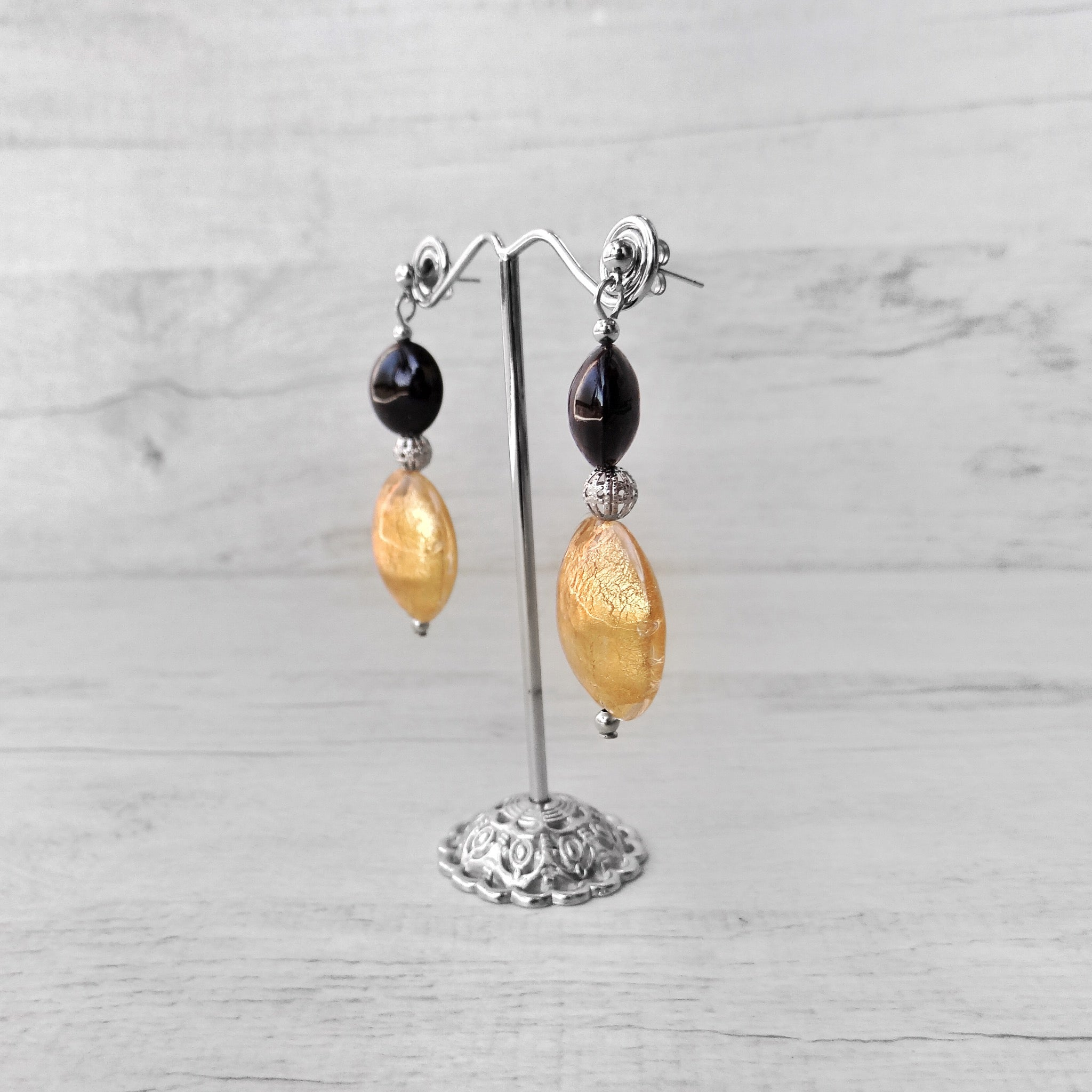 Medàgie - Gold Murano Glass Earrings