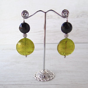 Medàgie - Green Murano Glass Earrings