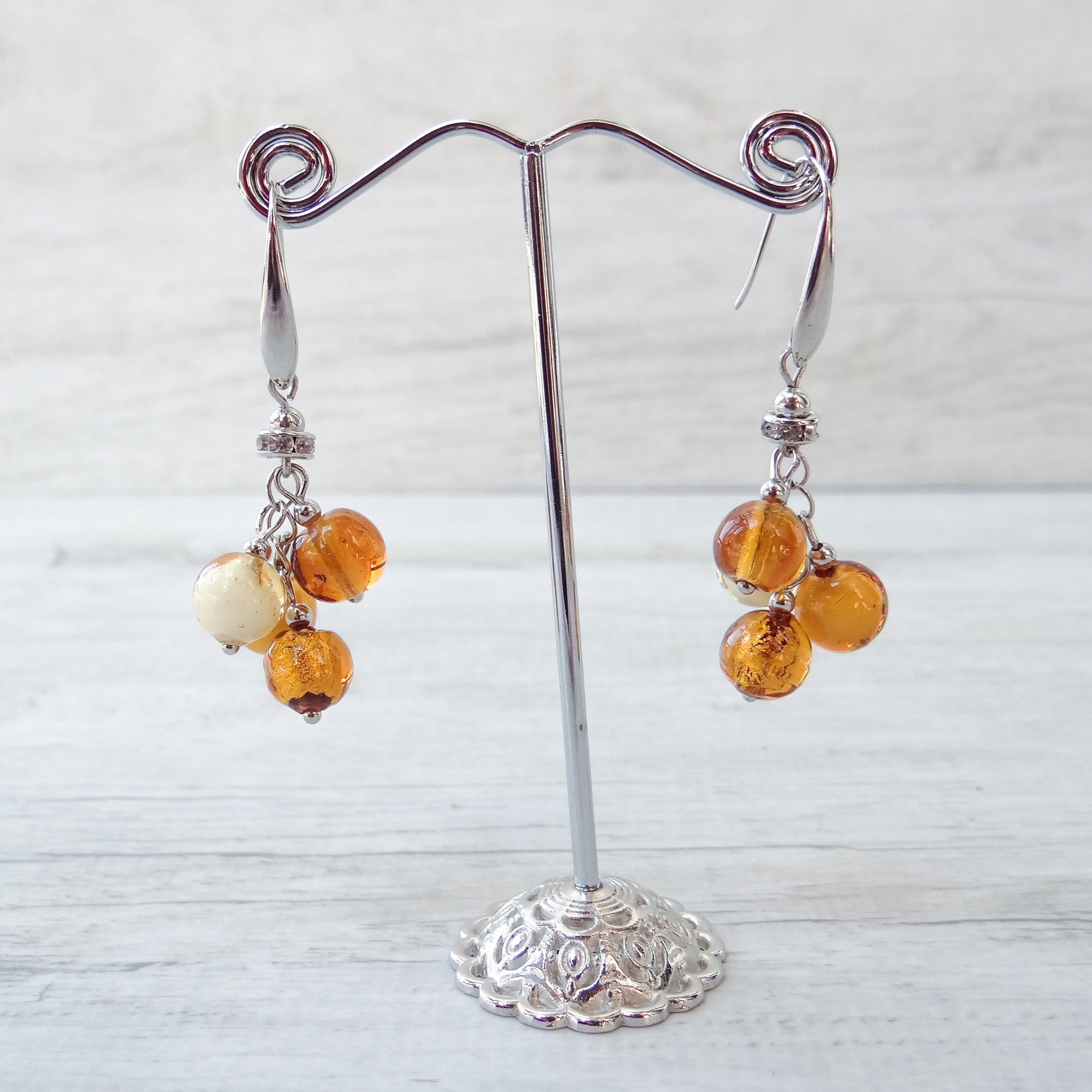 Piòva - Topaz Murano Glass Earrings
