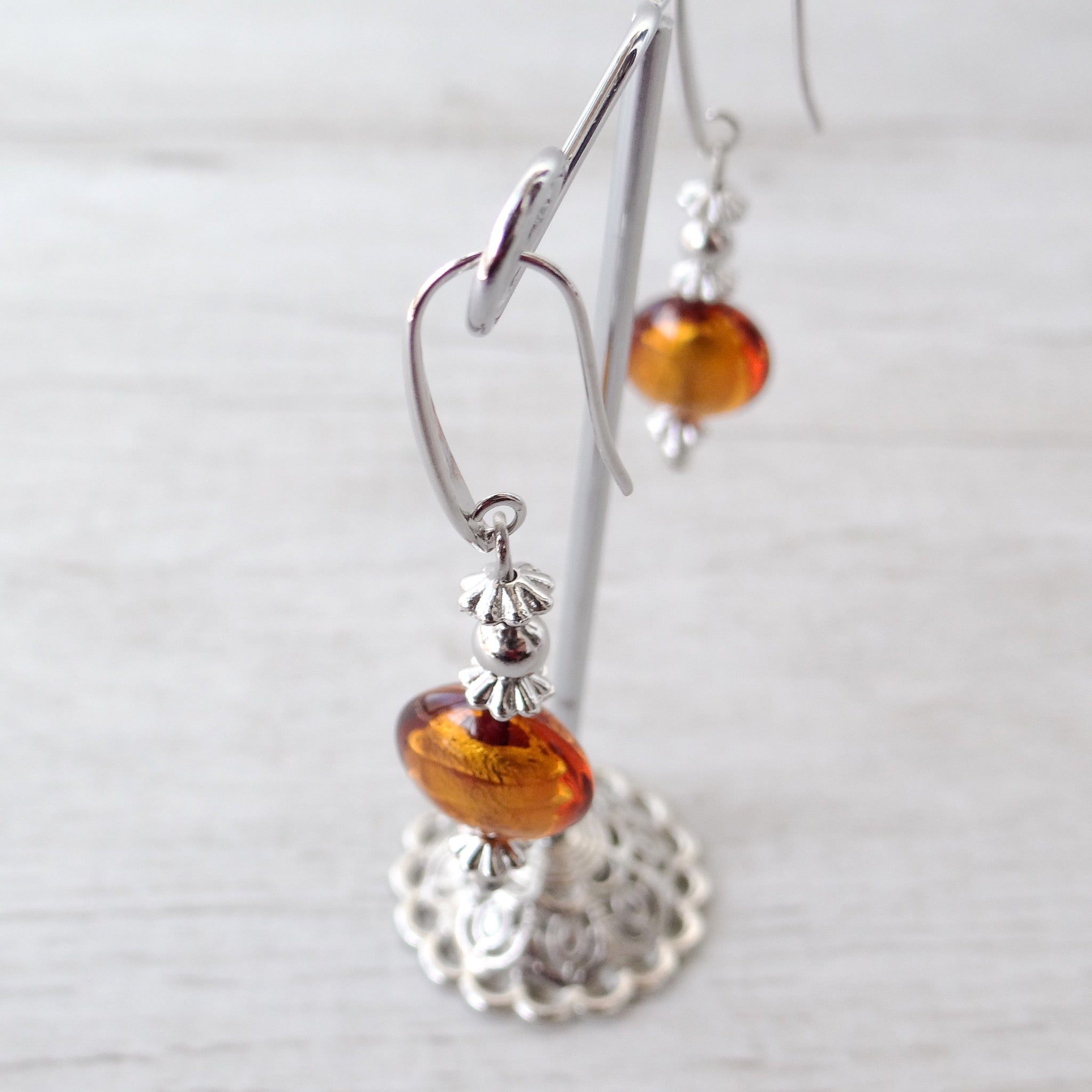 Schèi - Topaz Murano Glass Earrings