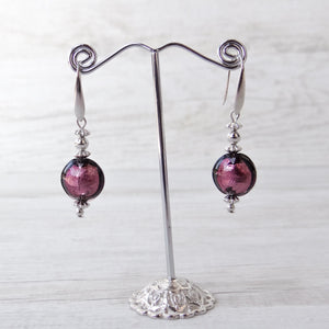 Schèi - Purple Murano Glass Earrings