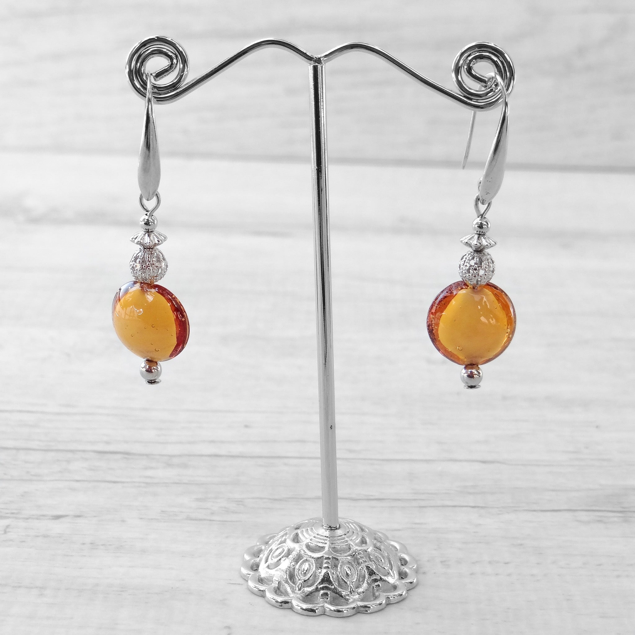 Schisse - Topaz Murano Glass Earrings