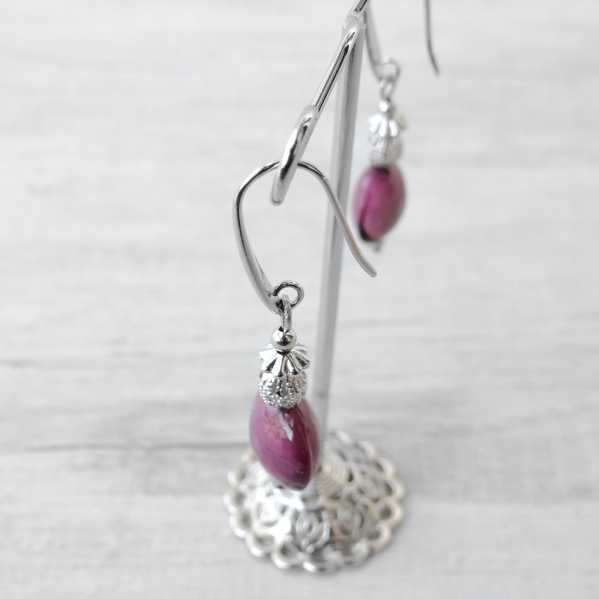 Schisse - Purple Murano Glass Earrings