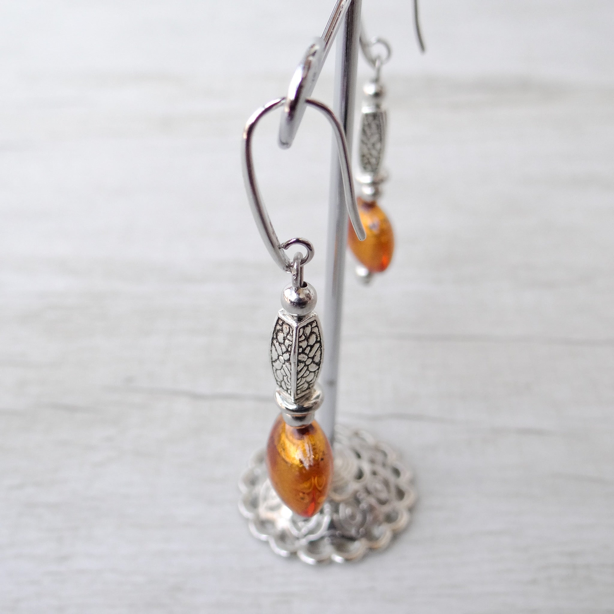 Ciàcola - Topaz Murano Glass Earrings