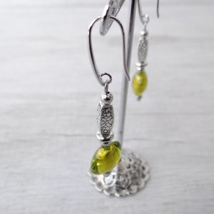 Ciàcola - Green Murano Glass Earrings