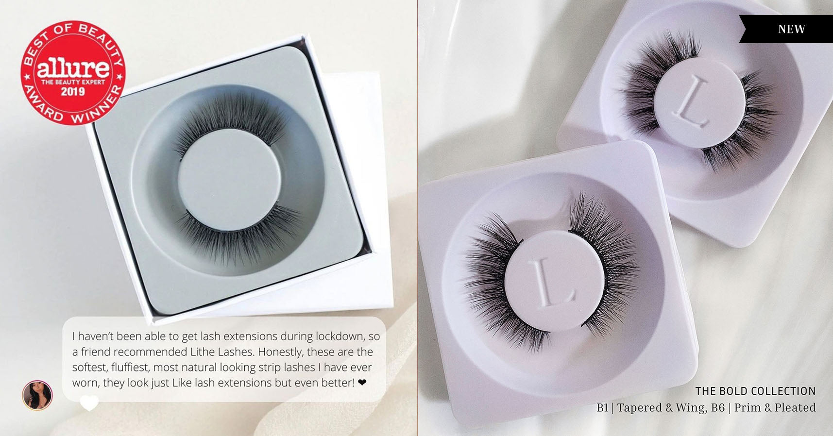 Lithe Lashes Core Collection vs. Bold Collection