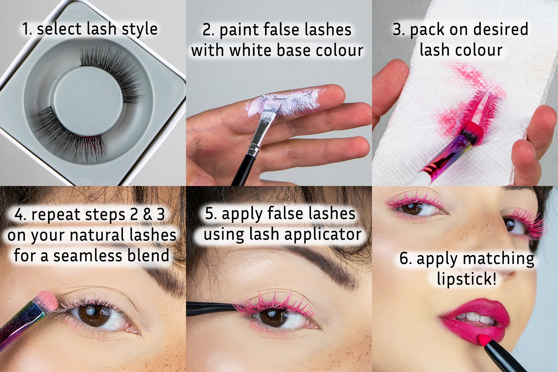 Lithe Lashes DIY Paint Your Own Colourful Lashes At Home