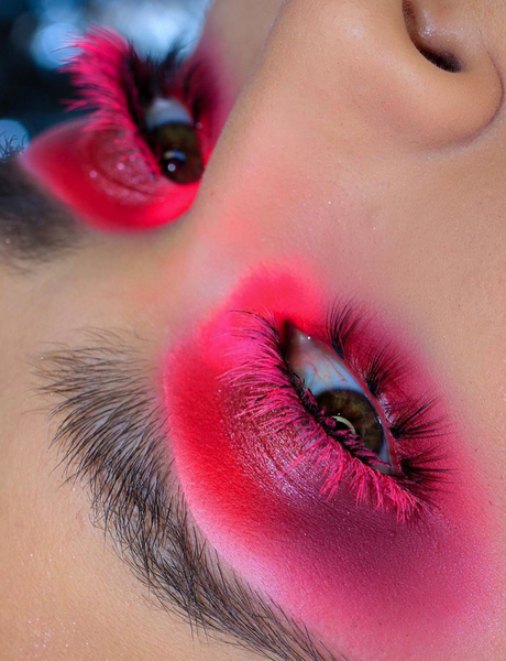 Neon Hot Pink Lashes