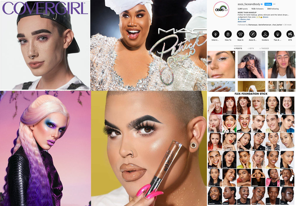 Lithe Lashes Journal | Pride & LGBTQ Rights | 2010's Men's Fashion Trends | 2010's Men's Beauty Trends | Equal Rights | Beauty Boys | Jefree Star | Fenty Beauty | James Charles | Patrick Starrr | Bretman Rock | Manny MUA | Cover Boys | Collage