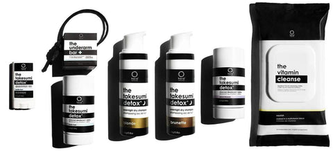 Lithe Lashes Blogs 10 local eco brands showing various black and white patterned the takesumi detox kit