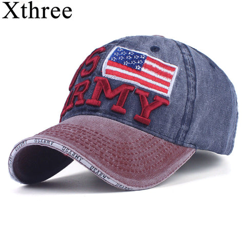 6d75d761705 Xthree 100% Washed Cotton Baseball Caps Men Summer Cap Embroidery Casquette  Dad Hat for Women