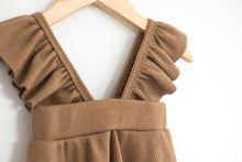 Load image into Gallery viewer, Ruffle Overall Dress - Desert Fawn