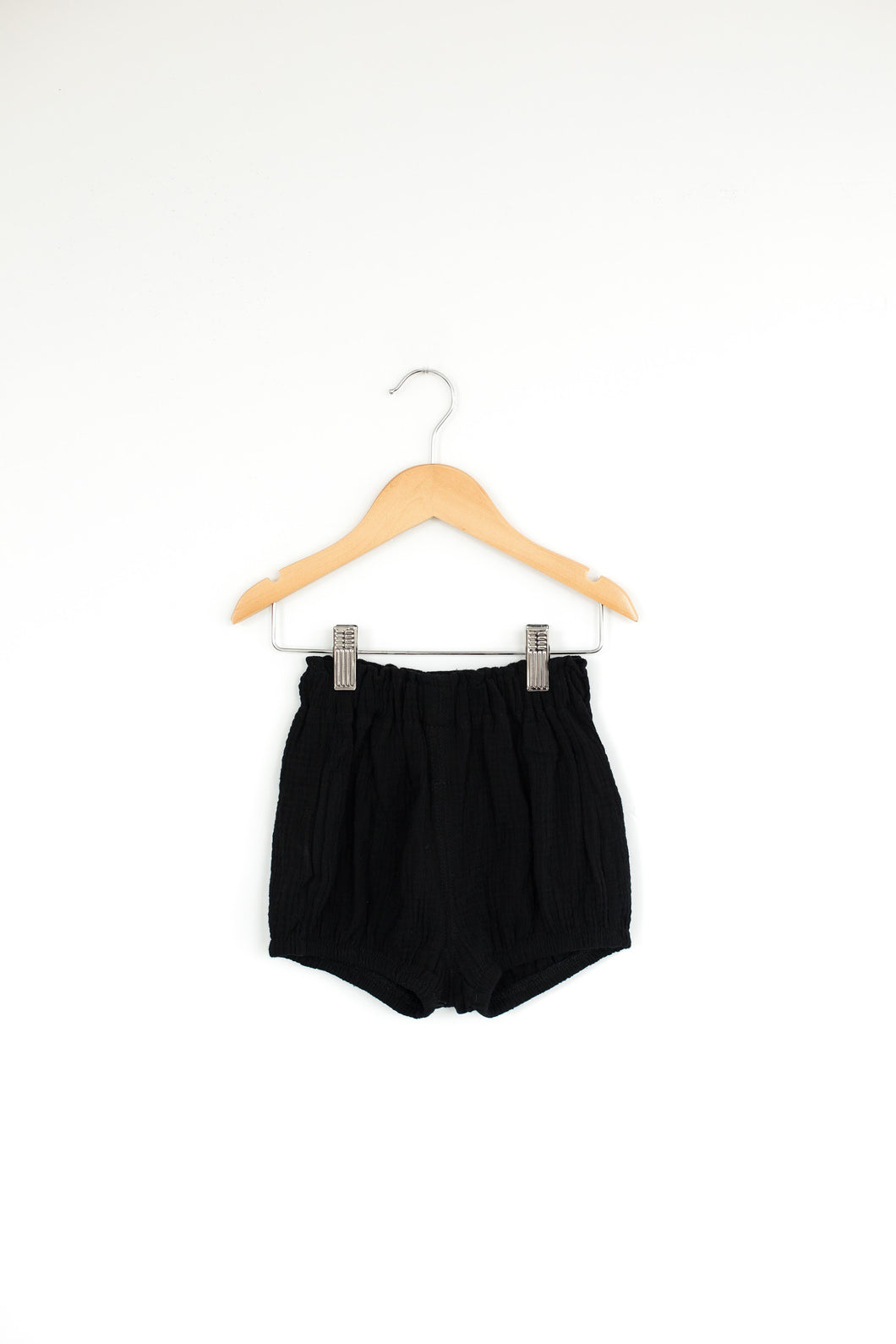 Black High Waisted Bloomer Shorts - Desert Fawn