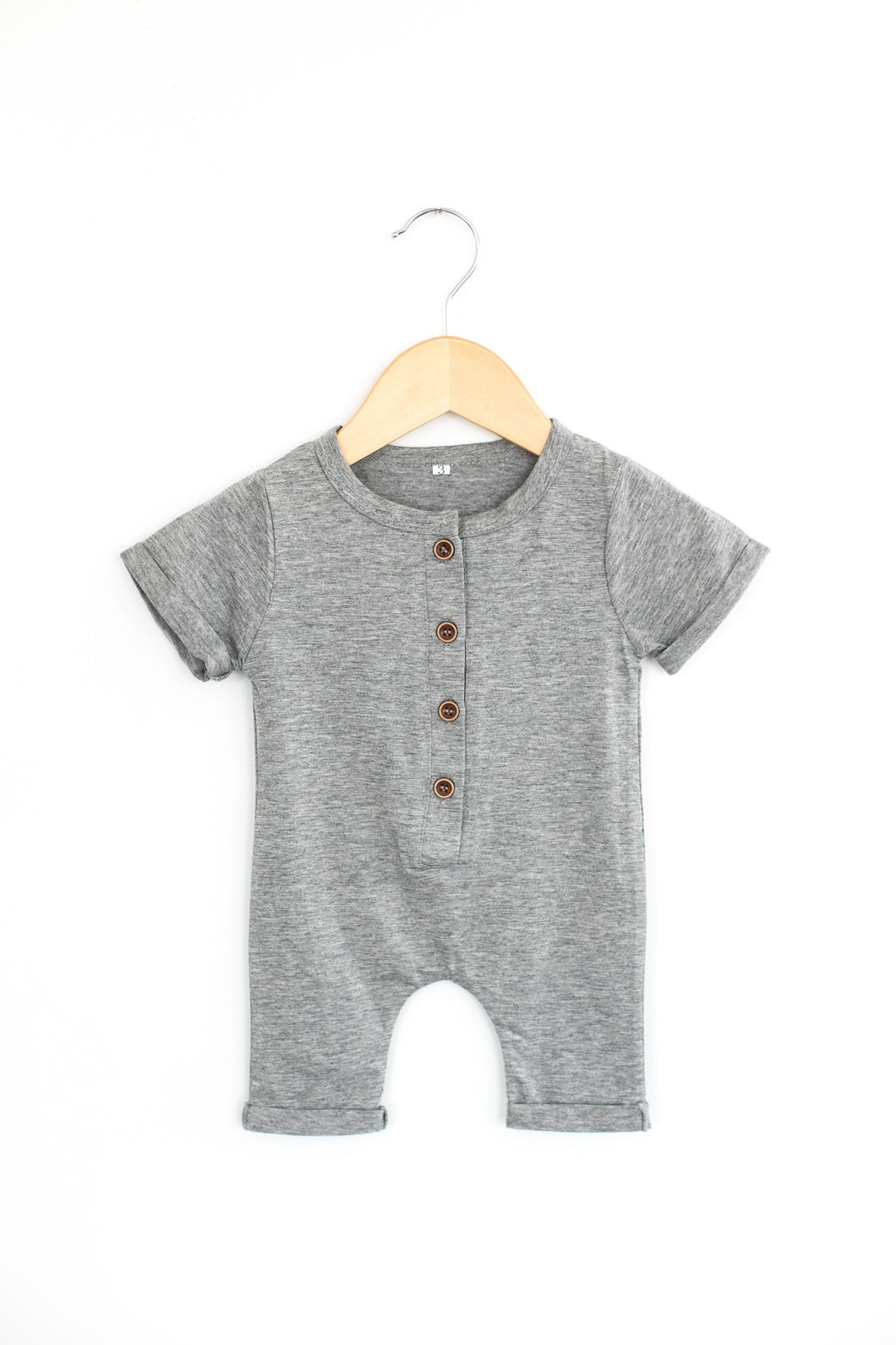 Plain Romper in Gray - Desert Fawn