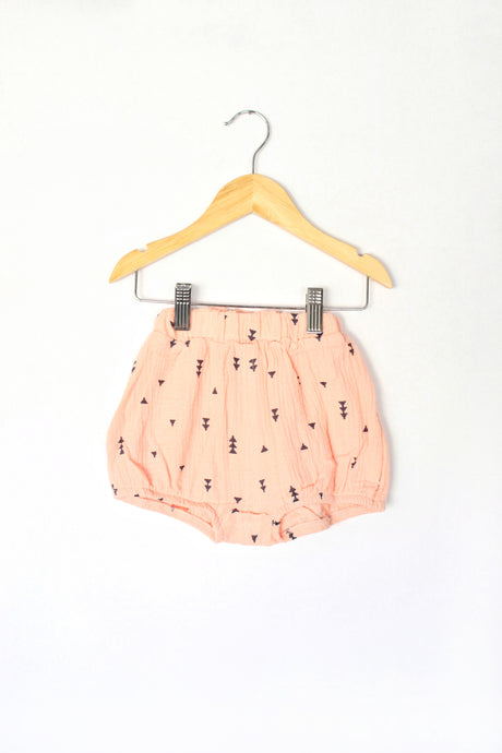 High Waist Bloomer Shorts in Pink - Desert Fawn