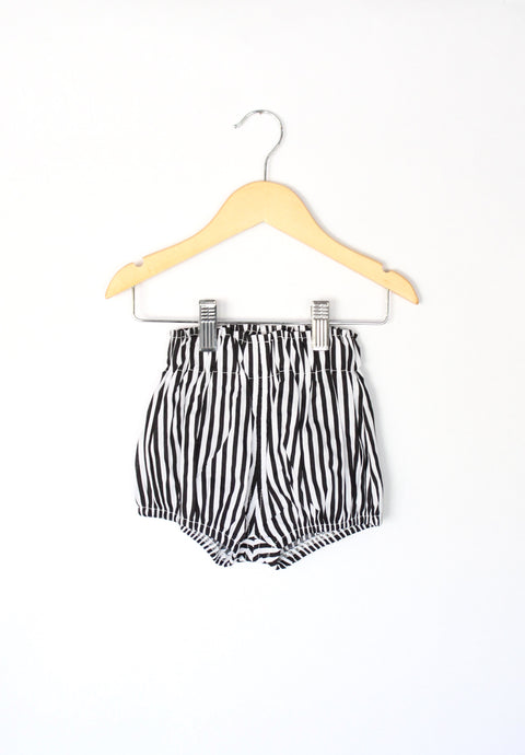 High Waist Bloomer Shorts in Stripe - Desert Fawn