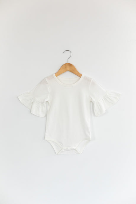 Belle Bodysuit in White - Desert Fawn