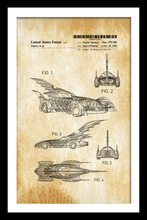 Load image into Gallery viewer, Batmobile Patent Print - Gallery Wrap Canvas w/ COA (Various Sizes)