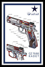 Load image into Gallery viewer, 9mm Kadet CZ 75/85 - Gallery Wrap Canvas w/ COA (Various Sizes)