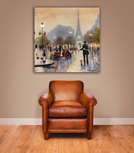 Load image into Gallery viewer, Home Decor, Paris, France, Eiffel Tower, Square canvas