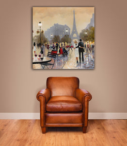 Home Decor, Paris, France, Eiffel Tower, Square canvas