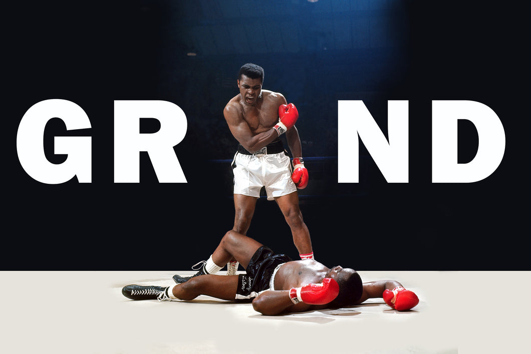 Muhammad Ali: GRIND - Gallery Wrap Canvas w/ COA (Various Sizes)