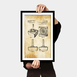 Atari Jockstick Patent Print - Gallery Wrap Canvas w/ COA (Various Sizes)