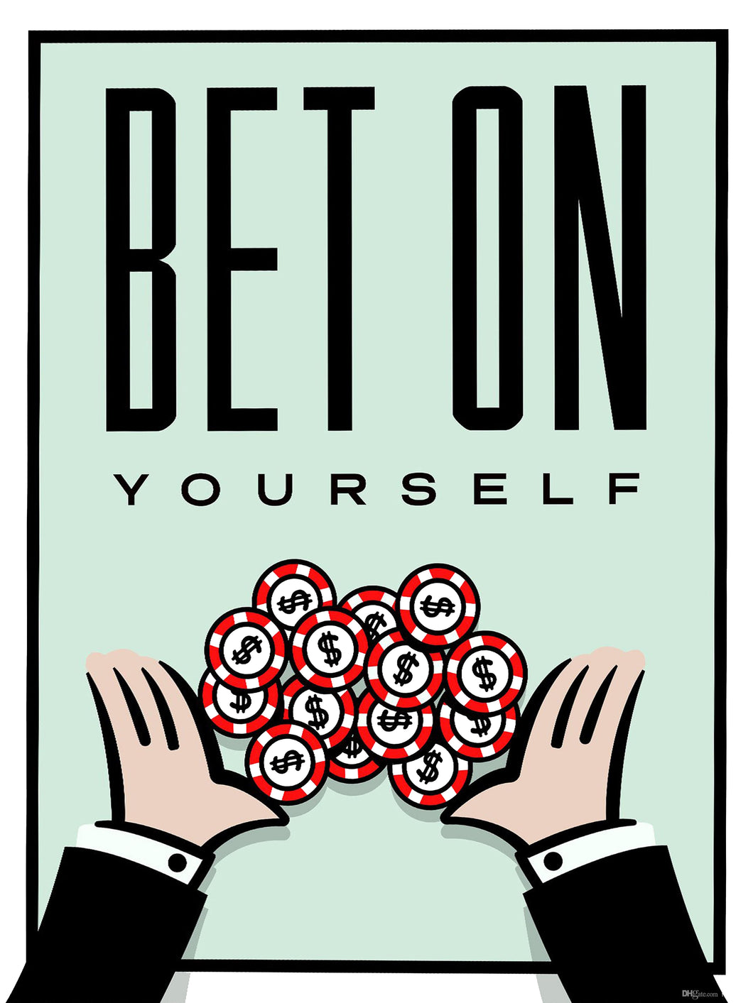 Bet on yourself - Gallery Wrap Canvas w/ COA (Various Sizes)