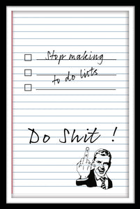To Do List - Gallery Wrap Canvas w/ COA (Various Sizes)