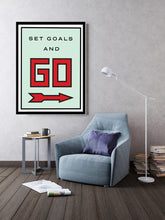 Load image into Gallery viewer, Set Goals & Go w/ COA (Gallery Wrap Canvas - Various Sizes)