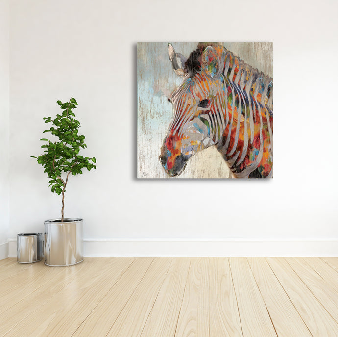 African Zebra - Gallery Wrap Canvas w/ COA (Various Sizes)