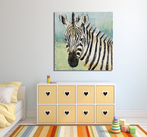 African Zebra 2 - Gallery Wrap Canvas w/ COA (Various Sizes)