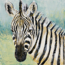 Load image into Gallery viewer, Zebra on canvas