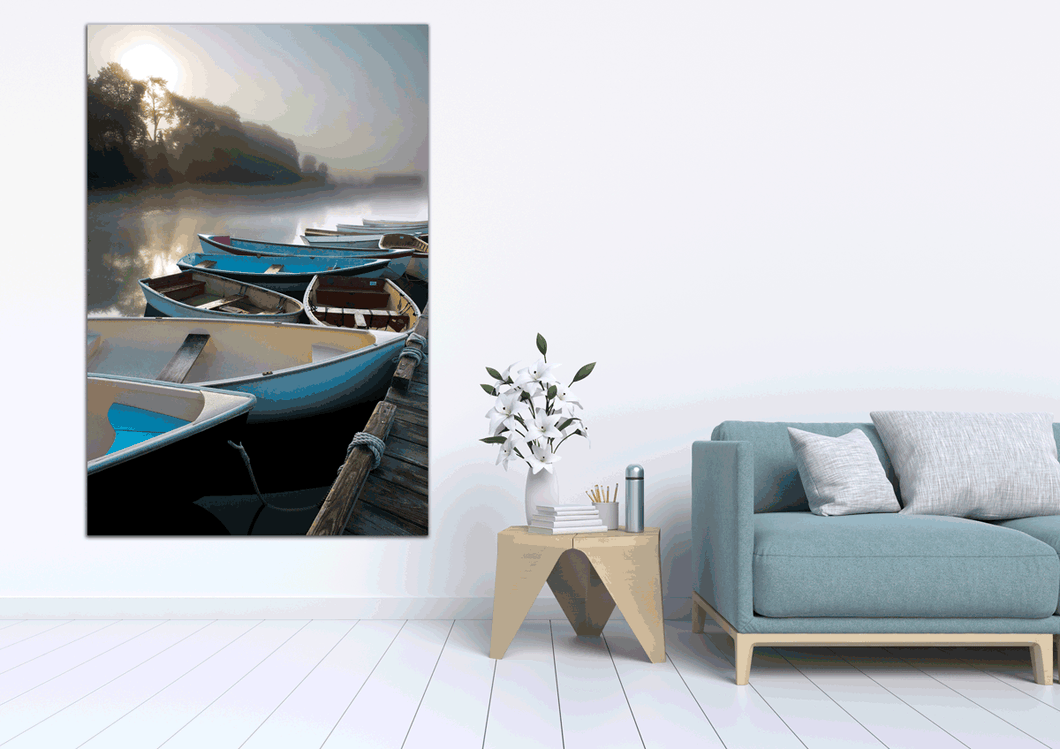 Skiffs in Acadia - Gallery Wrap Canvas w/ COA (Various Sizes)