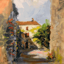 Load image into Gallery viewer, Provence Village - Gallery Wrap Canvas w/ COA (Various Sizes)