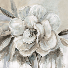 Load image into Gallery viewer, white flower on canvas