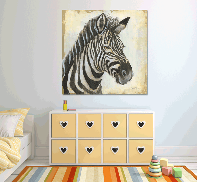 African Zebra 3 - Gallery Wrap Canvas w/ COA (Various Sizes)