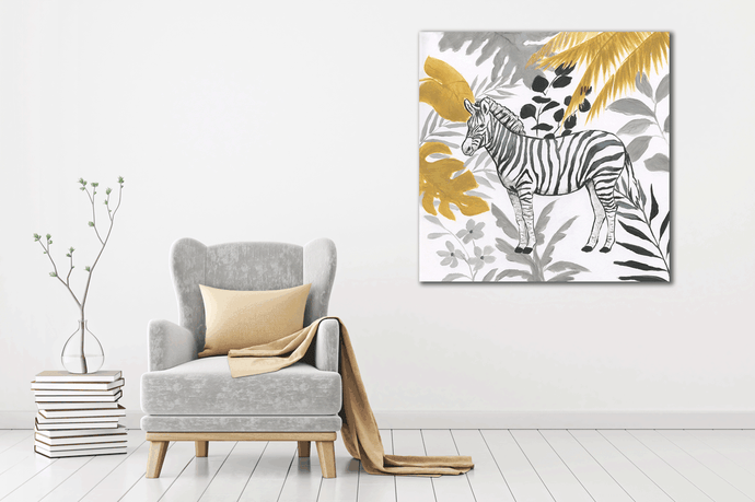 African Zebra 4 - Gallery Wrap Canvas w/ COA (Various Sizes)