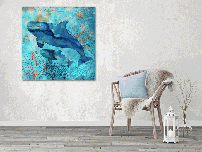 Ocean of Beauty: Whale - Gallery Wrap Canvas w/ COA (Various Sizes)