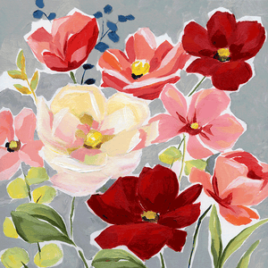 flowers on canvas