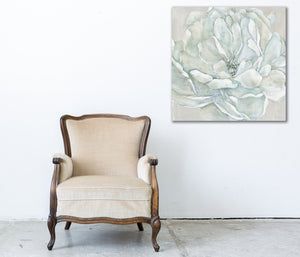 white flower on canvas